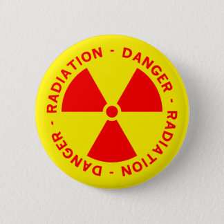 Strahlungs-Warnung Runder Button 5,1 Cm