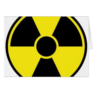 Strahlungs-Warnzeichen Karte