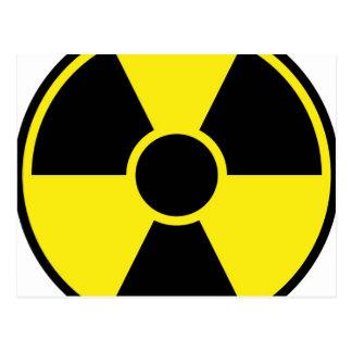 Strahlungs-Warnzeichen Postkarte