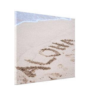Strand Aloha Leinwanddruck