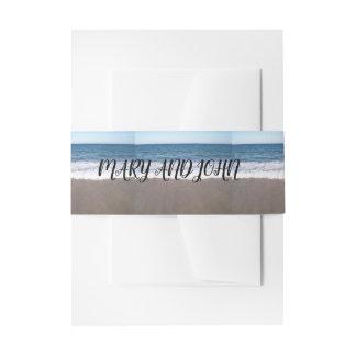 Strand an der Ozean-Hochzeit Einladungsbanderole