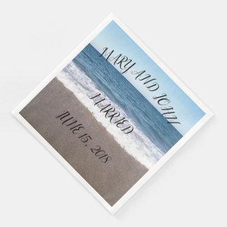 Strand an der Ozean-Hochzeit Servietten