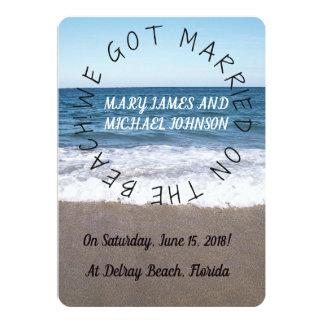 Strand an der Ozean-Hochzeits-Mitteilung Karte