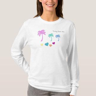 Strand-Art 80er der Breezy Strand-Abnutzung Retro T-Shirt