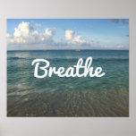 "Strand ""atmen"" Geist-Yoga u. Meditation Poster"