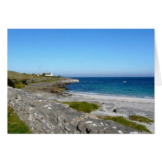 Strand auf Inis MOR, Aran Inseln Grußkarte