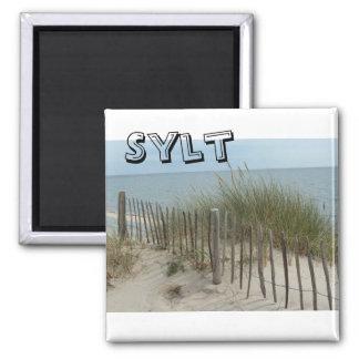 Strand auf Sylt in Deutschland Quadratischer Magnet