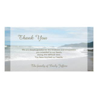 Strand-Beileid danken Ihnen ErinnerungsFoto-Karte Fotokarte