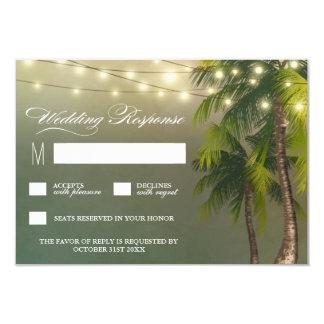 Strand beleuchtet Palme-tropische Hochzeit UAWG 8,9 X 12,7 Cm Einladungskarte