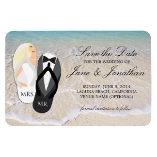 Strand-blonde tropische Hochzeit Deluxe Save the Magnet