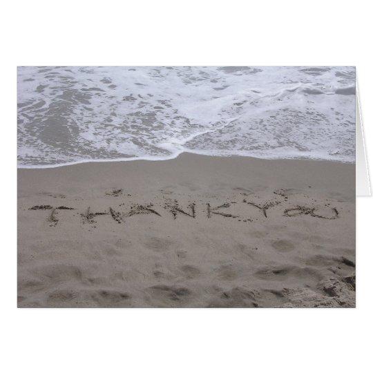 Strand danken Ihnen zu kardieren Karte