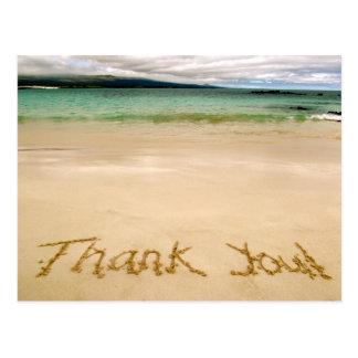 "Strand ""danken Ihnen"" zu merken Postkarte-Senden Postkarte"