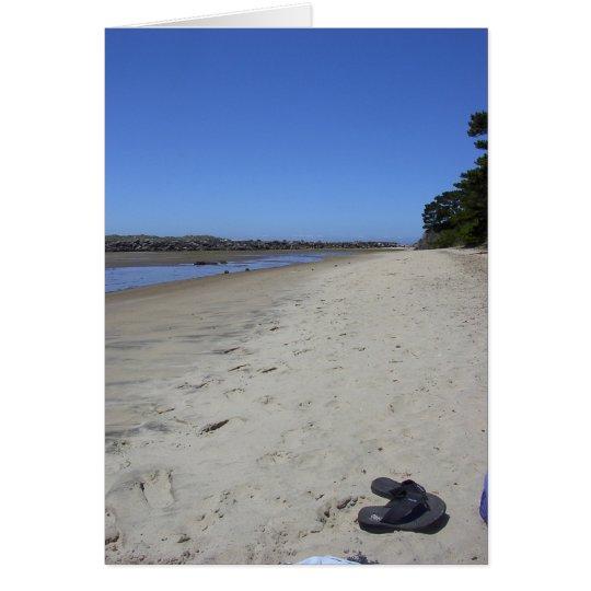 Strand-Entspannung Grußkarte
