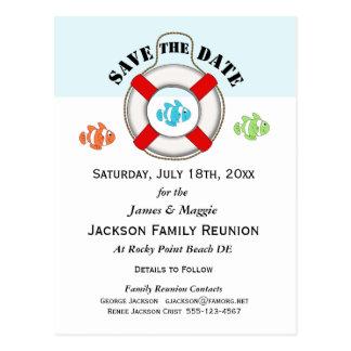 Strand-Familien-Wiedersehen oder Party Save the Postkarte
