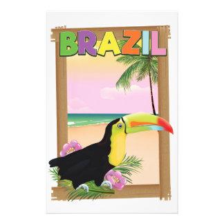 Strand-Feiertagsplakat Brasiliens Toucan Briefpapier