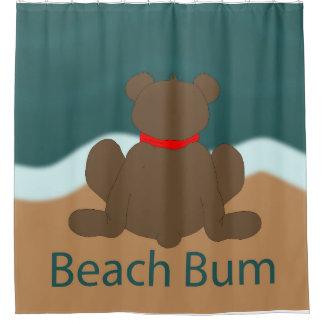Strand-Gammler-Bär Duschvorhang