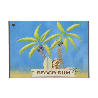 Strand-Gammler, Surfbretter, Palmen und Sand iPad Mini Etui