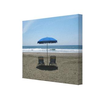 Strand Gespannter Galeriedruck