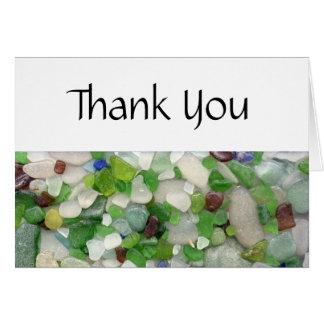 Strand-Glas danken Ihnen Karten