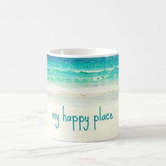 Strand-glückliche Platz-Tasse Kaffeetasse
