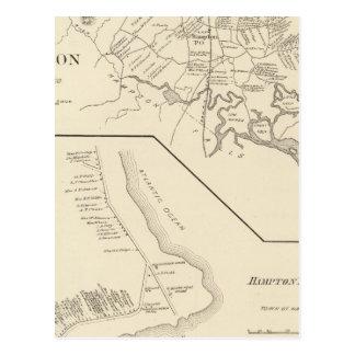 Strand Hamptons, Hampton Postkarte