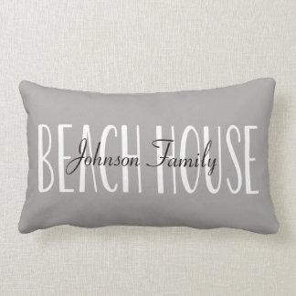 Strand-Haus-Kissen personalisiert mit Namen Lendenkissen