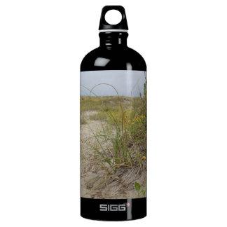 Strand-Herbst-Wildblumen Aluminiumwasserflasche