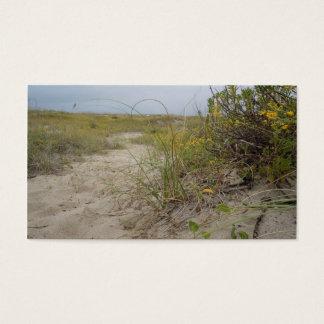 Strand-Herbst-Wildblumen Visitenkarte