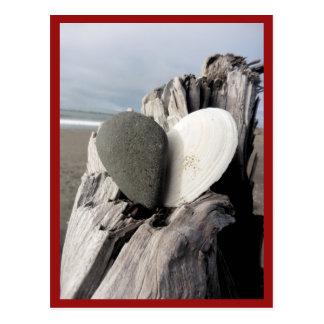 Strand-Herz Postkarte