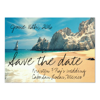 Strand-Hochzeit Cabo San Lucas, Mexiko Save the Karte