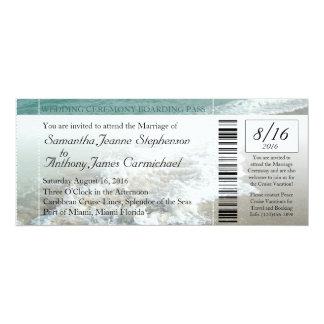 Strand-Hochzeit in Urlaubsorts-Karten-Einladung 10,2 X 23,5 Cm Einladungskarte