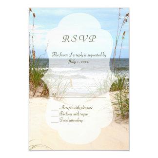 Strand-Hochzeit RSVP 8,9 X 12,7 Cm Einladungskarte