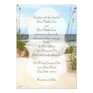 Strand-Hochzeits-Einladungen 12,7 X 17,8 Cm Einladungskarte