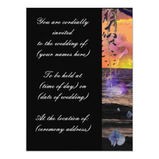 Strand-Hochzeits-Einladungen 16,5 X 22,2 Cm Einladungskarte
