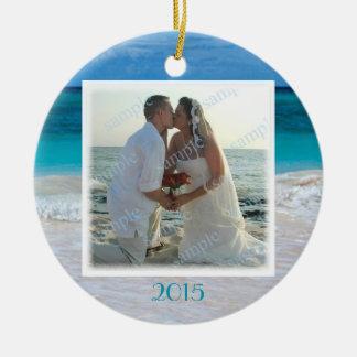 Strand-Hochzeits-Foto-Rahmen-tropische Keramik Ornament