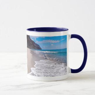 Strand-Hochzeits-Hintergrund Tasse