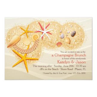 Strand hütet Posten-Hochzeits-Brunch 12,7 X 17,8 Cm Einladungskarte
