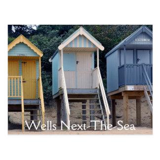 Strand-Hütten, Brunnen-folgend-d-Meerpostkarte Postkarte