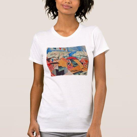 Strand in Biarritz (Frankreich) durch Bedrich T-Shirt