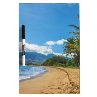 Strand in Hawaii Trockenlöschtafel