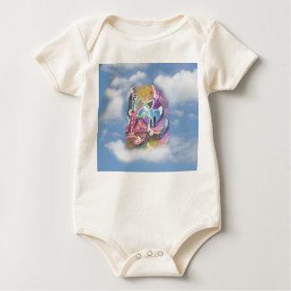 Strand-Junge auf Wolken Baby Strampler