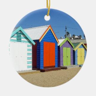 Strand-Kasten-Hütte Melbourne Australien Rundes Keramik Ornament