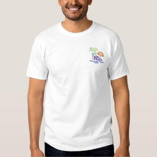 Strand-Kontur Besticktes T-Shirt