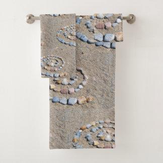 Strand-Kunst-Spirale Badhandtuch Set