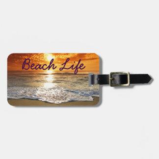 Strand-Leben-Gepäckanhänger Gepäckanhänger