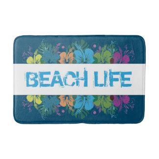 Strand-Leben-Hibiskus-Muster Badematte