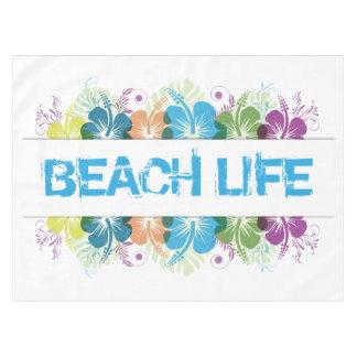 Strand-Leben-Hibiskus-Muster Tischdecke