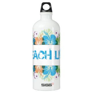 Strand-Leben-Hibiskus-Muster Wasserflasche