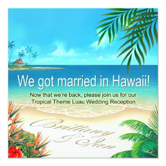 Strand Luau Hawaii Empfang erhalten Namen im Sand Karte
