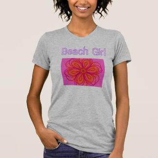 Strand-Mädchen T-Shirt